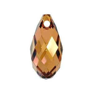 [SC0010-6010-11-CP] 2 Pcs / 6010 Crystal Copper Swarovski Elements Crystal Pendant / Swarovski / 11mmx5.5mm