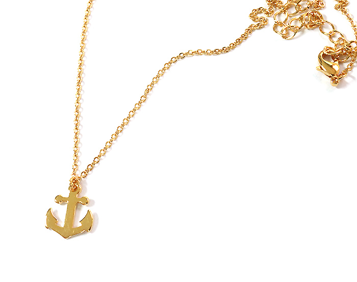 Anchor Charm Pendant Necklace