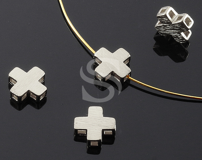 [B0655-C-MS] 4 Pcs / Matte Finished Simple Cross Connector