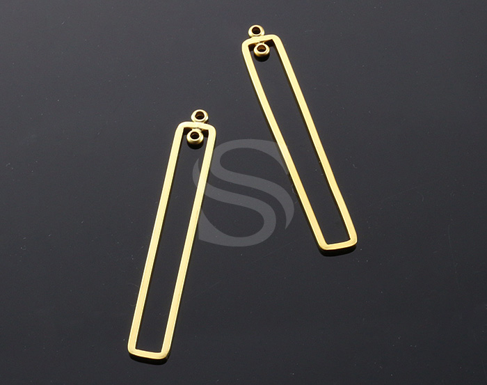 [B1023-C-MG] 4 Pcs / Rectangle Connector / Brass / 6.5mm x 50.5mm