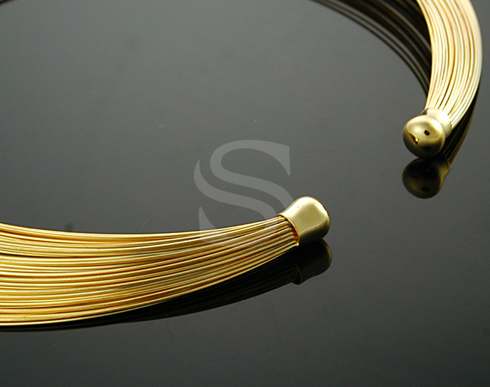 [R0029-G] 1 Pcs / Delicate Layered Line Necklace / Brass / 165mmx165mm