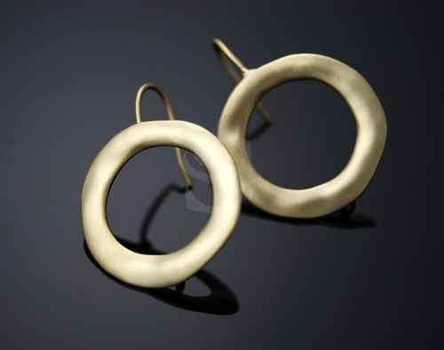 [B0128-H] Doughnut Ring Earring Findings / Brass / 22mm