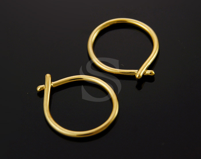 [B1309-C-G] 4 Pcs / Simple Knot Connector / Brass / 20mmx22mm