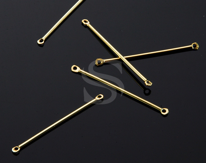 [B1955-C2-G] 10 Pcs / Chic & Simple Bar Connector / Brass / 32mm x 1mm