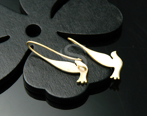[B0220-H-MG] 4 Pcs / Flying Dove Earring Findings / Brass / 10mmx28mm