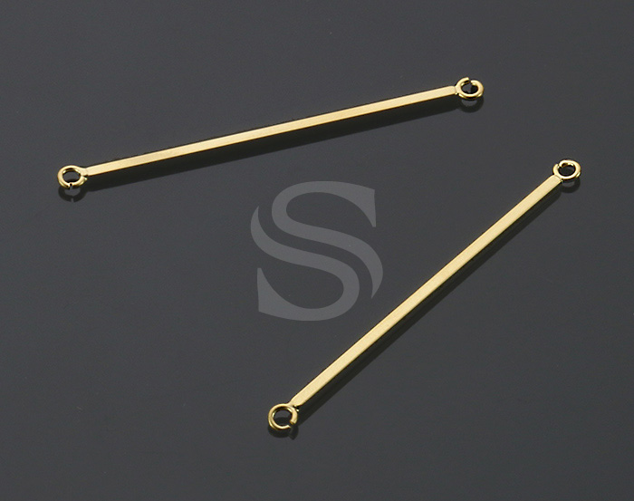[B2331-C-MG] 6 Pcs / Simple & Chic Bar Connectors / Brass / 42.5mm x 1.3mm