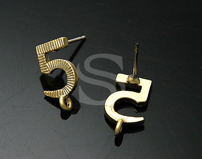 [B0296-E-MG] SALE 4 Pcs / Unique Fashion No.5 Earrings