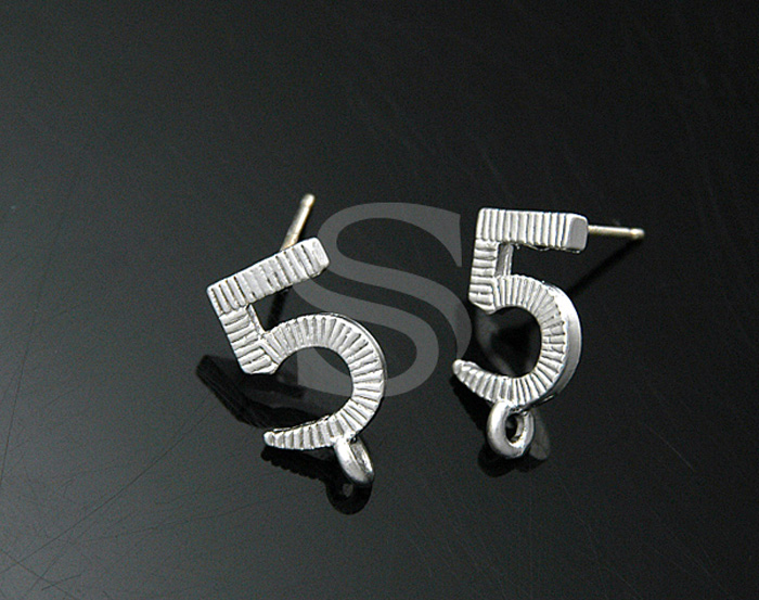 [B0296-E-MS] SALE 4 Pcs / Unique Fashion No.5 Earrings