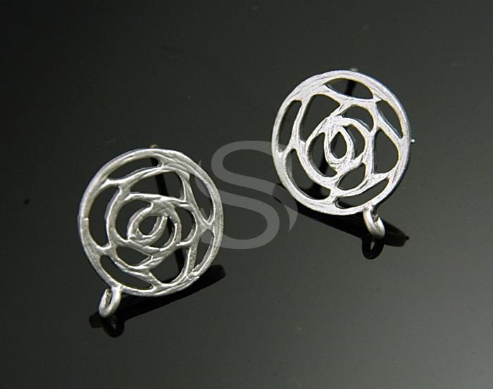 Simple Line Art Rose : B e ms sale pcs flat simlple line art rose earring