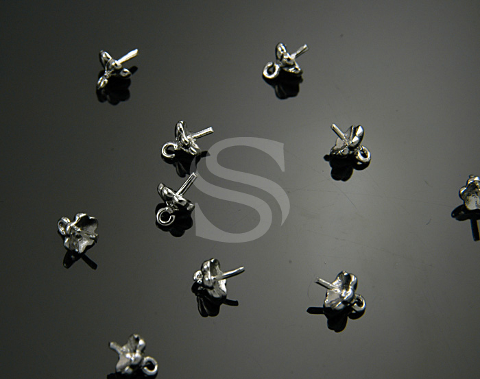 [BS0725-RF] 10 Pcs / Petite Six Petals of Flower Bead Cap / Brass / 6mmx5mm