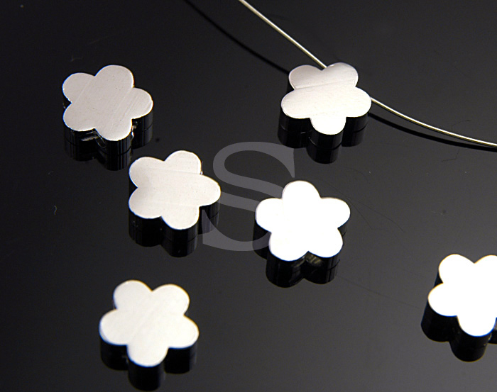 [B0384-C2-RF] 6 Pcs / Adorable Daisy Flower Beads / Brass / 8.3mm