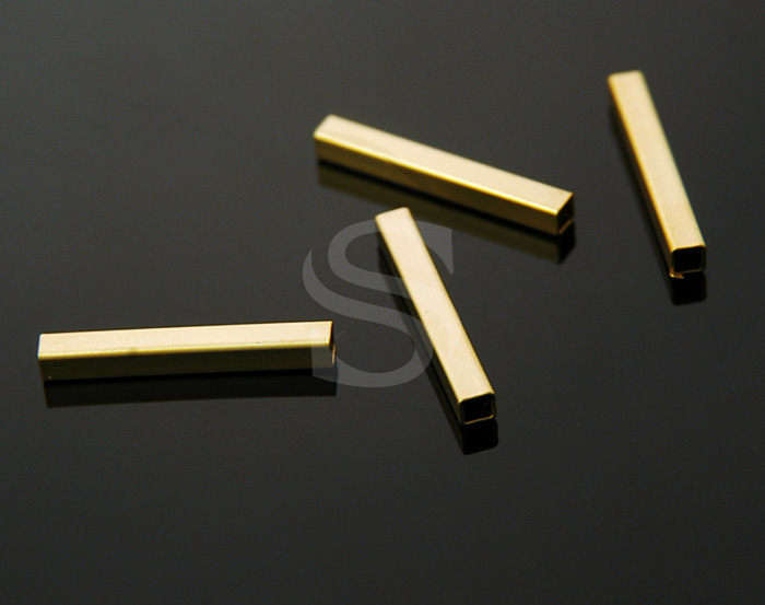 [BS1104-2.6x20-MG] 10 Pcs / Basic Tube Bead / Brass / 2.6mm x 20mm