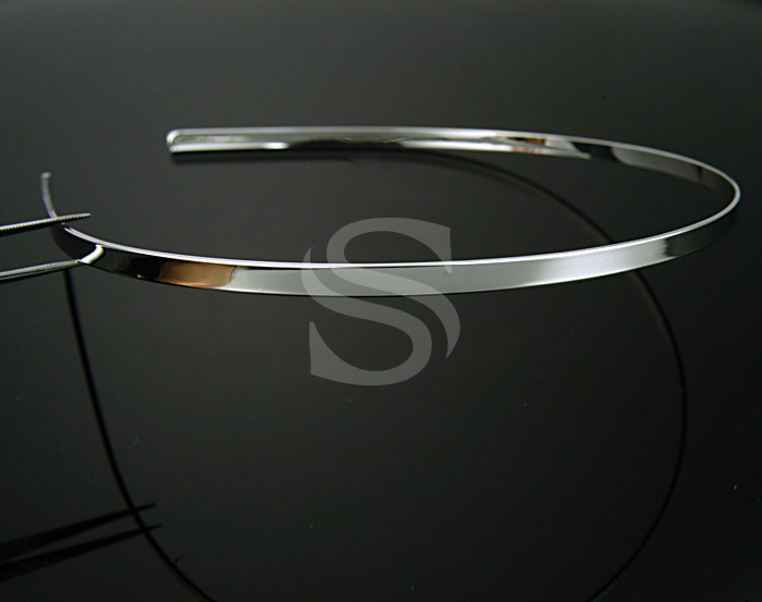 [R0014-RF] 2 Pcs / Painless Simple, Basic Headband / Brass / 4mmx143mm