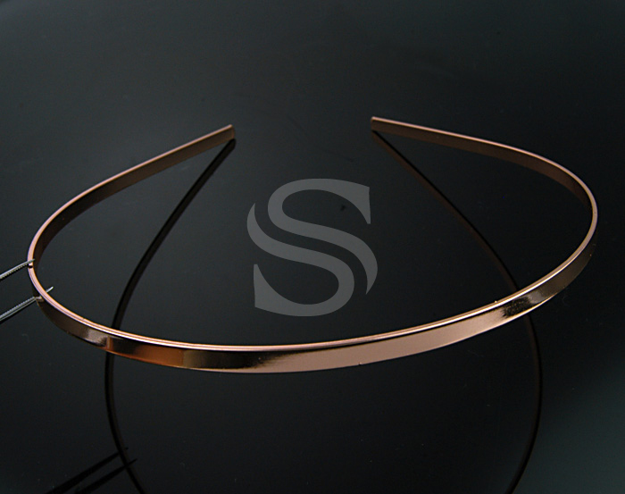 [R0014-RG] 2 Pcs / Painless Simple, Basic Headband / Brass / 4mmx143mm
