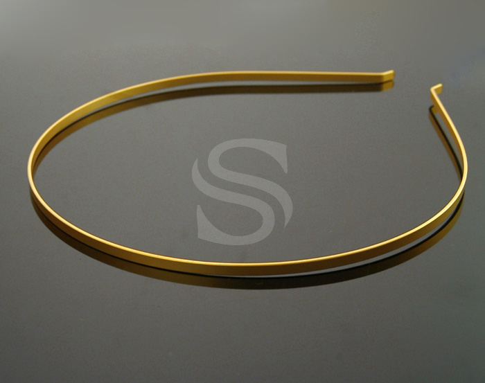 [R0018-MG] 2 Pcs / Simple, Basic Headband / Steel / 3mm x 135mm