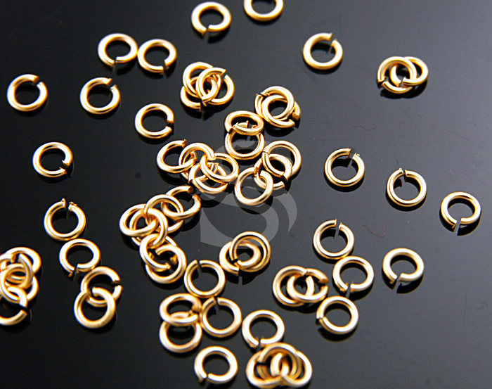 [BS0101-MG] 100 Pcs / 2mm Jump Rings / Brass / 23 gauge(0.6mm) x 2mm