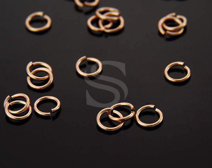[BS0105-RG] 50 Pcs / 4mm Jump Rings / Brass / 20 gauge(0.8mm) x 4mm