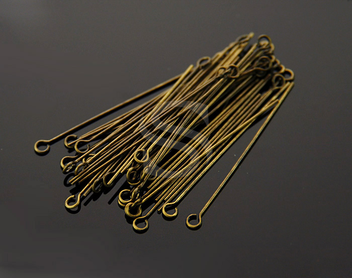 [BS0307-AB] 50 Pcs / Eyepins / 30mm / 24 gauge(0.5mm)
