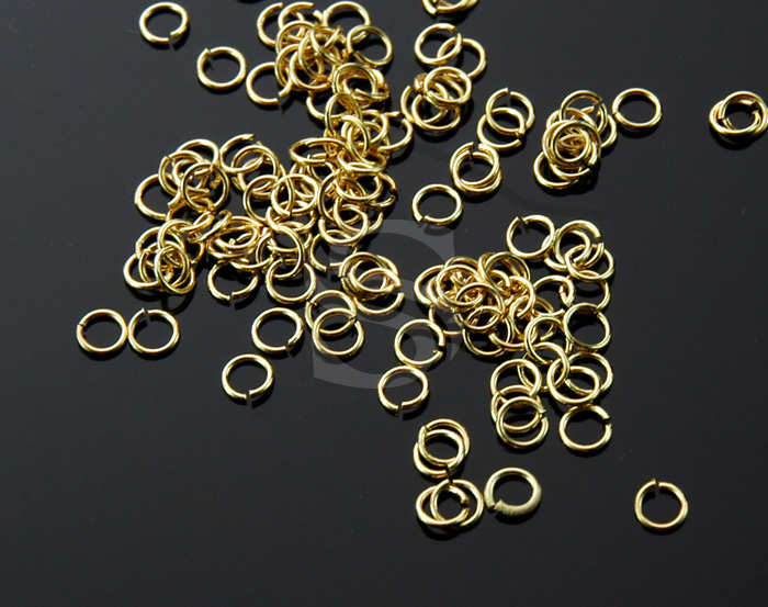[BS0102-G] 5 g / 3mm Jump Rings / Brass / 23 gauge(0.6mm) , 3mm(inner)