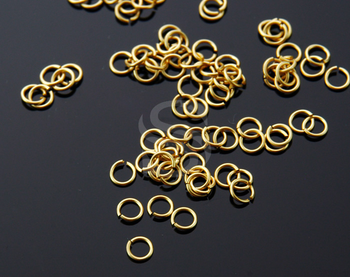 [BS0102-MG] 5 g / 3mm Jump Rings / Brass / 23 gauge(0.6mm) , 3mm(inner)