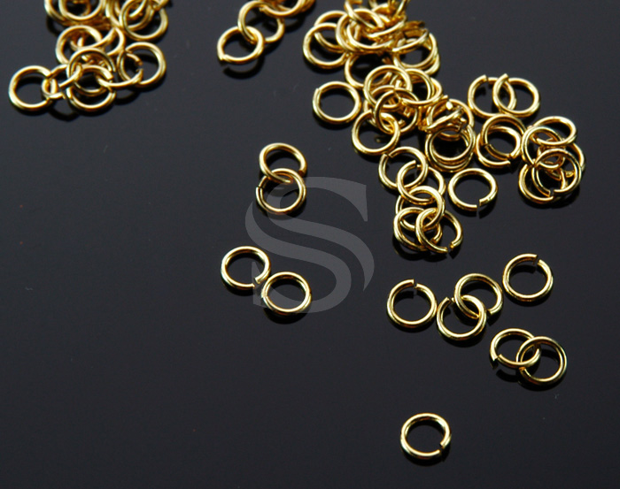 [BS0104-G] 5 g / 3mm Jump Rings / Brass / 21 gauge(0.7mm), 3mm (inner)