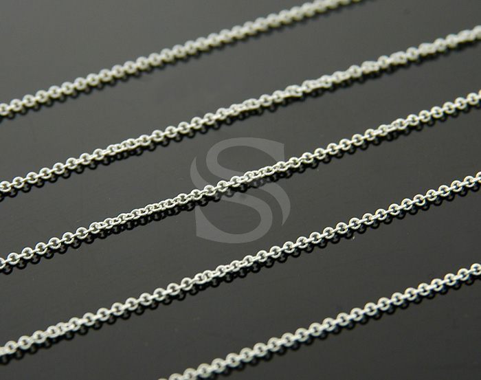 [CH0100-25-ATSS] 1m / Small Cable Chain / Brass / 1.2mmx1.6mm