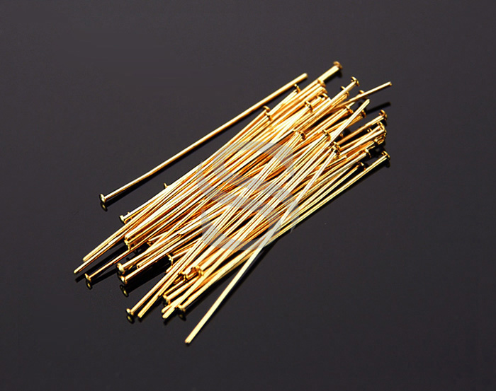 [BS0301-30-G] SALE 50 Pcs / Headpins / Brass / 24 gauge x 30mm