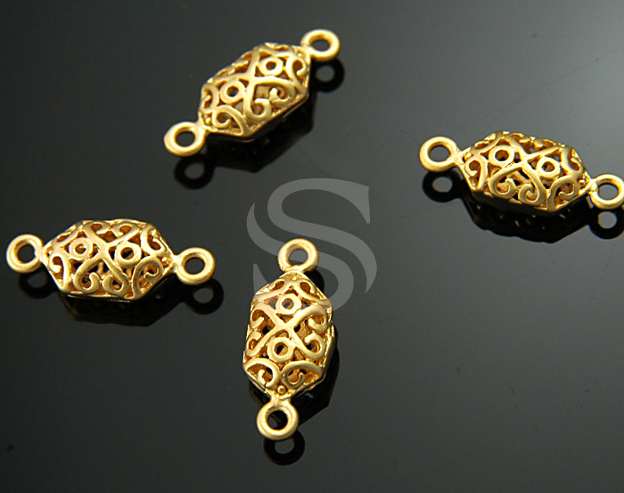 [BS-034-MG] Oriental Filigree Volume Connector / Brass / 15mmx6mm