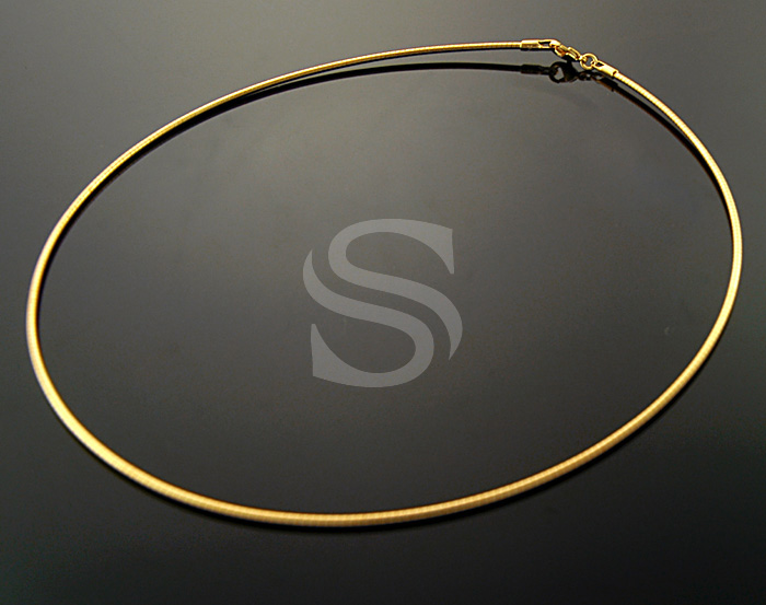 [CH1600-G] 2Pcs / Omega chain necklaces / Brass /1.6mm x 400mm