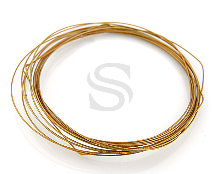 [BS0605-BE] 9m/ Flexible Beading Wire / Steel / 26Gauge