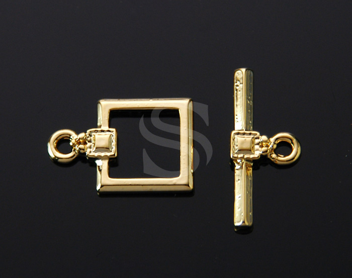 [BS0904-G] 4 Set / Chic Square Toggle Clasps / Brass / 12mmx18mm , 21mmx9mm