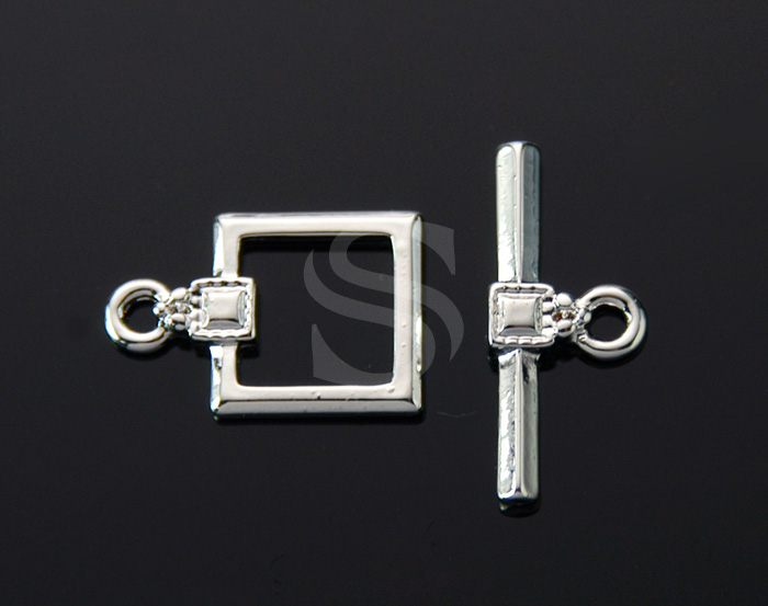 [BS0904-RF] 4 Set / Chic Square Toggle Clasps / Brass / 12mmx18mm , 21mmx9mm