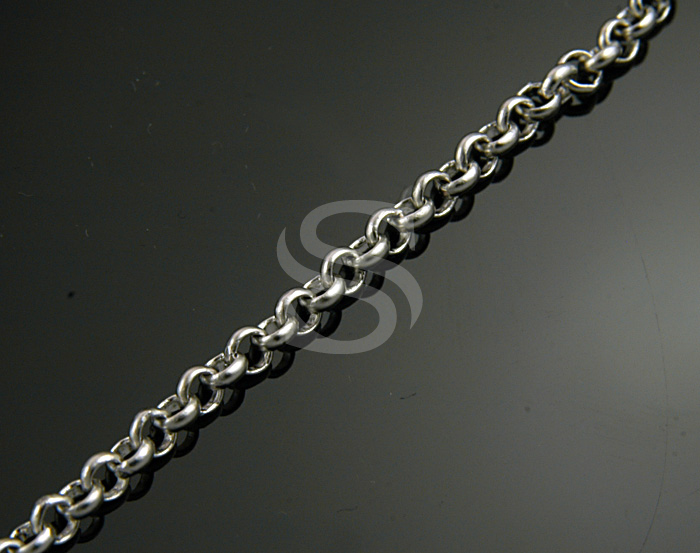[CH1700-30-MS] 1m / Rolo Chain / Brass / 3mm x 3mm