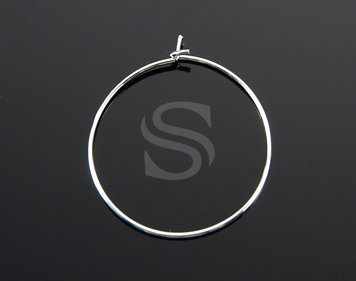 [BS1217-ATSS] 8 Pcs / Hypoallergenic Big Hoop Earring / Brass / 30mm