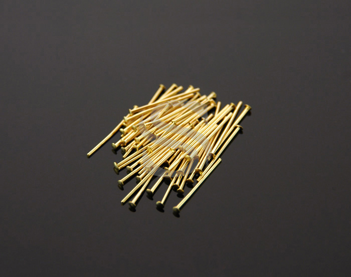 [BS0301-12-MG] 50Pcs / Headpins / Brass / 24 gauge x 12mm