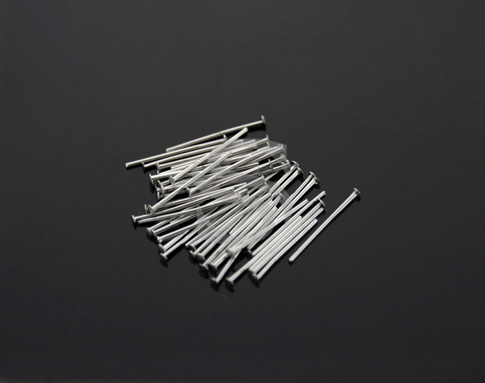 [BS0301-12-MS] 50Pcs / Headpins / Brass / 24 gauge x 12mm