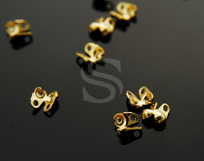 [BS0503-G] 20 Pcs / Bead Chain End Cap / Brass / 2mm x 4mm