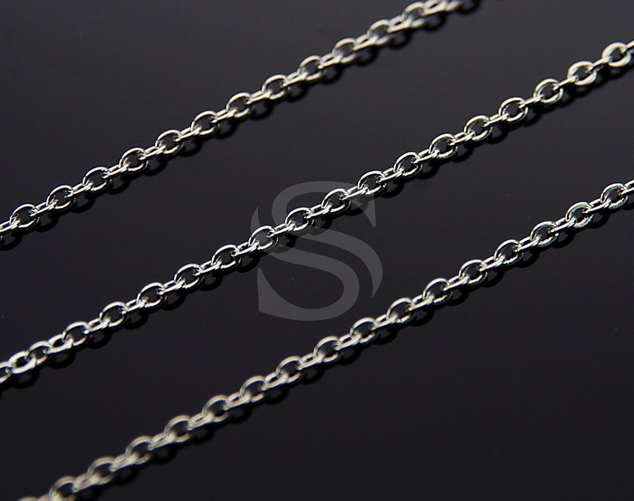 [CH0001-45-RF] 1m / Flat Cable Chain / Brass / 2mm x 2.5mm