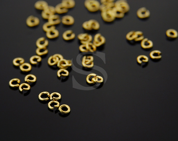 [BS0103-G] 100 Pcs / 2mm Jump Rings / Brass / 21 gauge(0.7mm) x 2mm