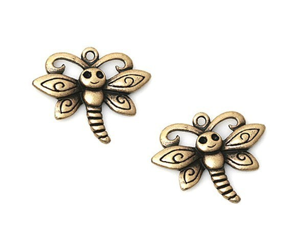 [C-036-AB] 6 Pcs / Smily Face Cute Butterfly Charms / Pewter / 20mm x 24mm