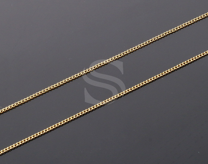[CH0100-15-G] 1m / Small Cable Chain / Brass / 1mm