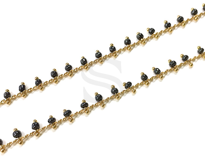 [CH1019-GDI] 1m / Beads Charm Chain / 2.3mm