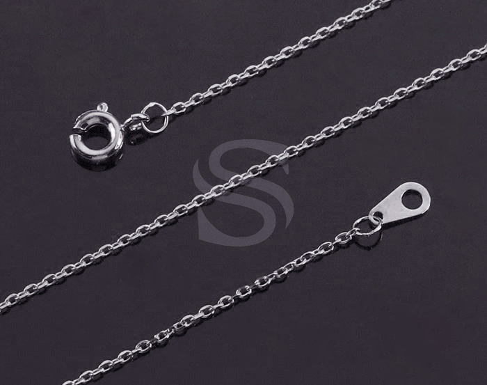 [CH1604-1-RF] 2 Pcs / Highly Polished Flat Cable Chain / Brass /0.6mm X 400mm