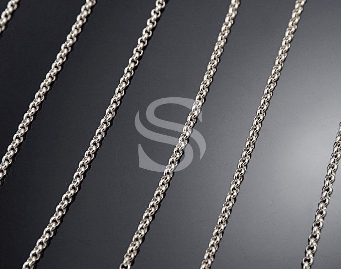 [CH1700-18-ATSS] 1m / Small Rolo Chain / Brass / 1.6mm