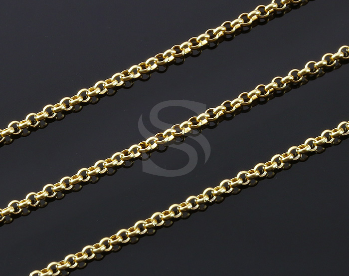 [CH1700-18-MG] 1m / Small Rolo Chain / Brass / 1.6mm