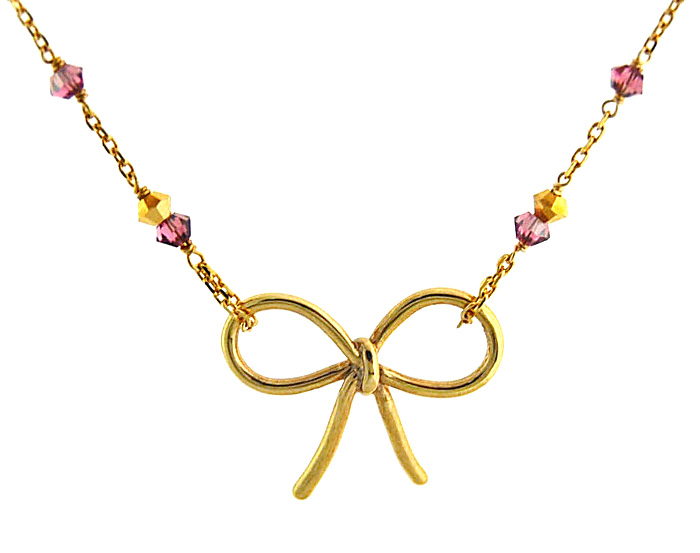 Cute string ribbon Pendant Necklace