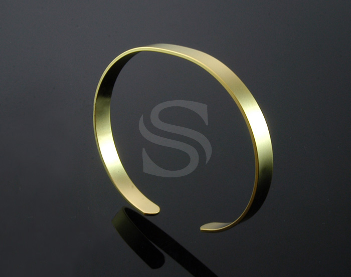 [R0055-MG] 1 Pcs / Adjustable Bangle / Brass / 66mm x 54mm