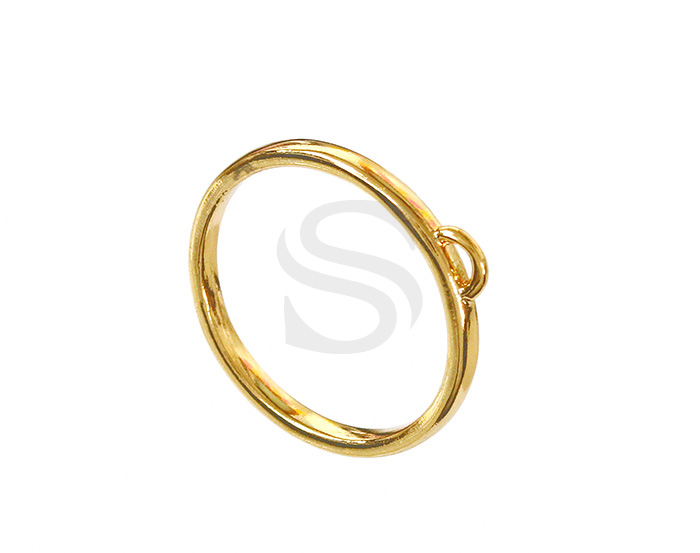[R0077-53-G] 2 Pcs / Embellishment Ring / Brass / EU:53 , US:6 ½, 16.87mm