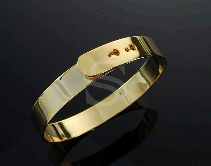 [R0129-G] 1 Pcs / Cassiopeia Bangle / Brass / 65mm (h:10mm)