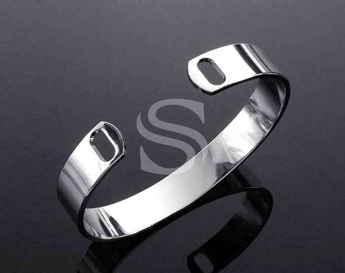 [R0132-RF] 1 Pcs / Adjustable Bangle / Brass / 50mm x 64mm (h:10mm)